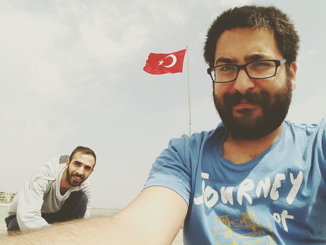 Enjoying Life Relaxing Hello World Hanging Out Check This Out That's Me Taking Photos Sunshine Turkish Flag Oldfriend Mybro