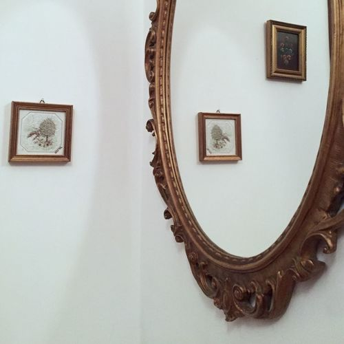 Picture Frame Indoors  White Mirror Pictures Minimal Reflection