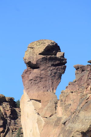 Monkey Face rock formation at Smith Rock State Park, Oregon Beauty In Nature Cliff Face Geology Natural Pattern Nature Nature Photography No People Non-urban Scene Outdoors Remote Rock Rock Climbing Rock Face Rock Formation Rocky Smith Rock Oregon
