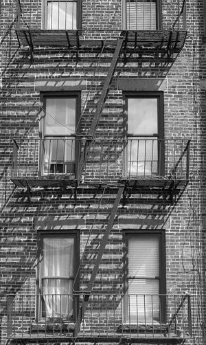 New York City Architecture Brick Brick Wall Building Building Exterior Built Structure No People Travel Destinations Wall Window