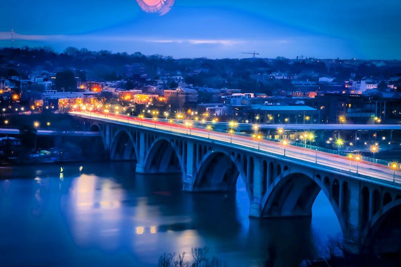 Francis Scott Key Bridge at night. Photography In Motion Evening Urban City Night Light Perspective Canon Canon 70d Exposure DSLR Landscape Photo Photography Visualsoflife Justgoshoot Bridge Moment Capture Architecture Hanging Out Check This Out Relaxing Taking Photos Hello World
