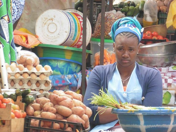 Nature On Your Doorstep photo of a young capeverdian lady selling vegetables!
