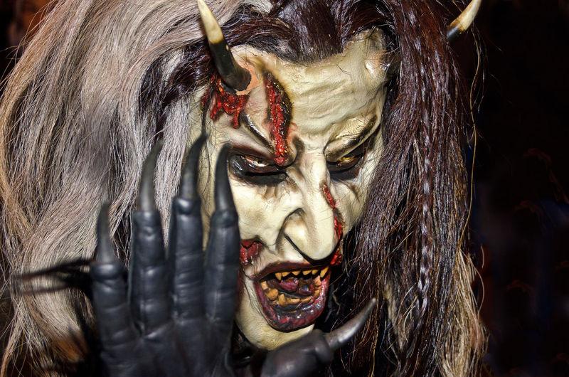 Close-up portrait of mask