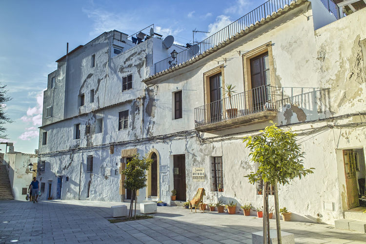 Ibiza Dalt Vila City Island Spain City Fun Ibiza Old Town SPAIN Tourist Attraction  View Architecture Balearic Islands Building Exterior Built Structure City Cloud - Sky Dalt Vila Day Mammal No People Old Buildings Outdoors Residential Building Road Sky Street Travel Destinations Tree