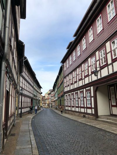 Wernigerode Fachwerkhaus Built Structure Architecture Building Exterior Direction Sky The Way Forward Cloud - Sky Building City Nature Residential District Outdoors Diminishing Perspective Day Transportation Street Long Road Incidental People Empty