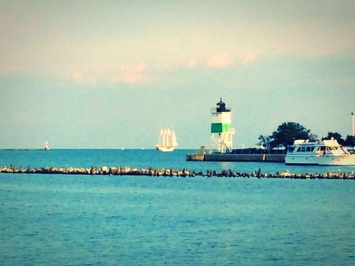 Chicago USA USAtrip Michigan Trip Michigan Lake Michigan Lake Boat Lighthouse