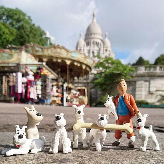 Tintin et les 7 Chiens . Milou Avecmonxperia Montmartre