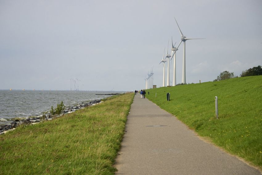 Dutch cycle route 'Oud en Nait Urk' in Flevoland. Netherlands Oud En Nait Urk The Netherlands Alternative Energy Dutch Environmental Conservation Flevoland Holland Outdoors Urk Wind Power Wind Turbine