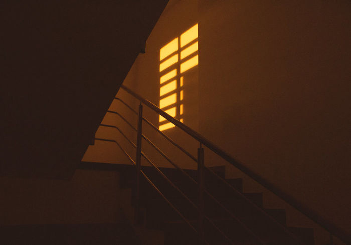 in the afternoon Afternoon Tea Architecture Built Structure Close-up Diagonals Highway Horizontal Landscape Low Angle View No People Shadow Shadows Stairs Sunset Paint The Town Yellow