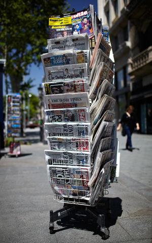 City Commerce Hot News Journalism Mass-media News News Of The World Newspaper Paper Periodical Press Pole Print Shallow DOF Street Trade World