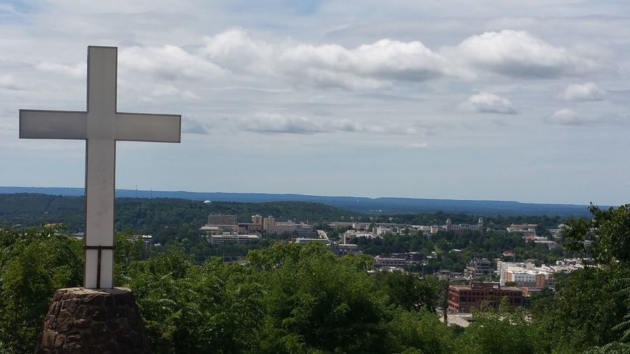 Cross Cityscape Nature Outdoors No People City Cloud - Sky Mount Sequoyah Fayetteville Arkansas