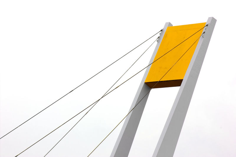 Millenium Bridge, Hull. Abstract Architecture Art Artphotography Arts Culture And Entertainment Bridge Cable City Form Geometric Shape Geometry Grey Lines And Shapes No People Outdoors Urban Yellow First Eyeem Photo EyeEmNewHere