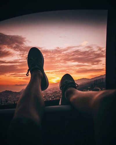 A sunset and a car 🍂 Madeira Portugal Photography Colors Sunset Lightroom Preset Lifestyles Shoe Relaxation Nature