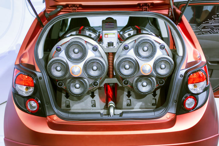 A crazy stereo music system in the trunk of a car Audio Creativity Music Power Car Fantasy Hi Fi System Music System Musician Speaker Speaker System Stereo Stereo System Tag Along Trunk Vehicle Interior Volume EyeEmNewHere