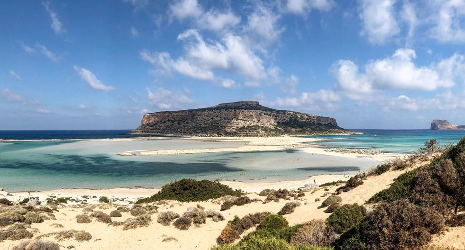 Balos Greece Kissamos Crete Landscape Sea Beach Land Sky Water Sand Beauty In Nature Nature Cloud - Sky Scenics - Nature Horizon Over Water Tranquility Tranquil Scene Non-urban Scene Horizon Blue Outdoors Day Idyllic No People