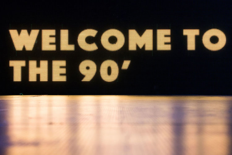 Led screen showing the welcoming text on the stage Welcome to the 90' at We Love Retro Party 90's  90's Music 90's Style Party Time Party Time! Retro Stage Stage Light Black Color Concert Disco Disco Music Disco Party Indoors  Led Screen No People Party Party - Social Event Retro Music Retro Party Stage - Performance Space Text Welcome Welcome To The 90's Welcoming Text