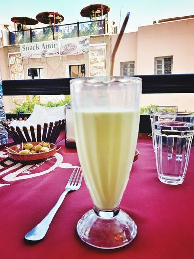 Food And Drink Drinking Glass Avocado Juice Healthy Eating Refreshment Drink No People Indoors  Table Food Sweet Food Fruit