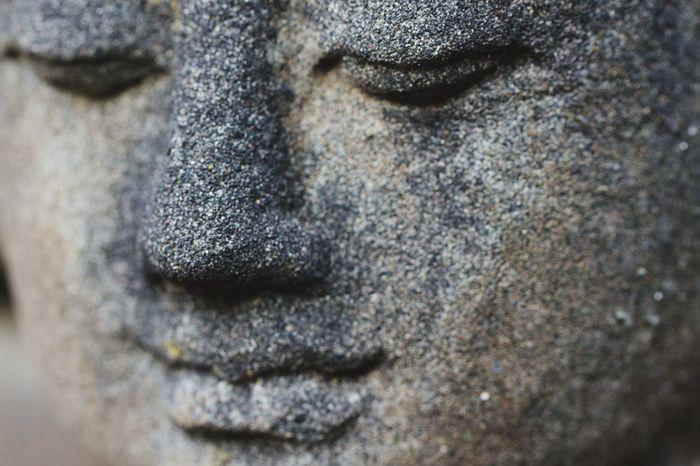 Einkehr Calm Meditation Face Budha Eyelash Full Frame Close-up
