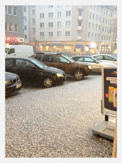 Hagel in Köln.