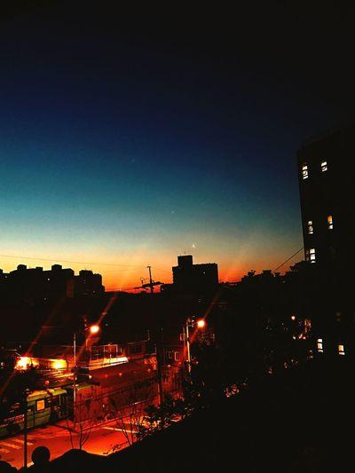 Sunrise Allnight Spring Dawn Moon Sky Road Midtermexam Calm