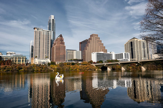 Austin, TX Architecture Building Exterior Built Structure City Cloud - Sky Day Modern Nature No People Outdoors Reflection Sky Skyscraper Tree Urban Skyline Water Waterfront