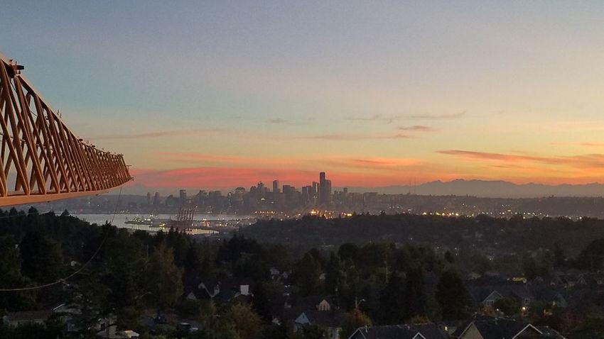 Sunrise cityscapes City Sunrise Seattle Sunrise Sunset Travel Destinations Landscape Urban Skyline City