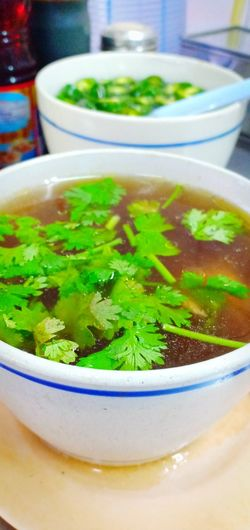 Soup อาหารจีน แกงจืด China Food ซุปไก่ Chinese Food Herb Close-up Food And Drink Green Color