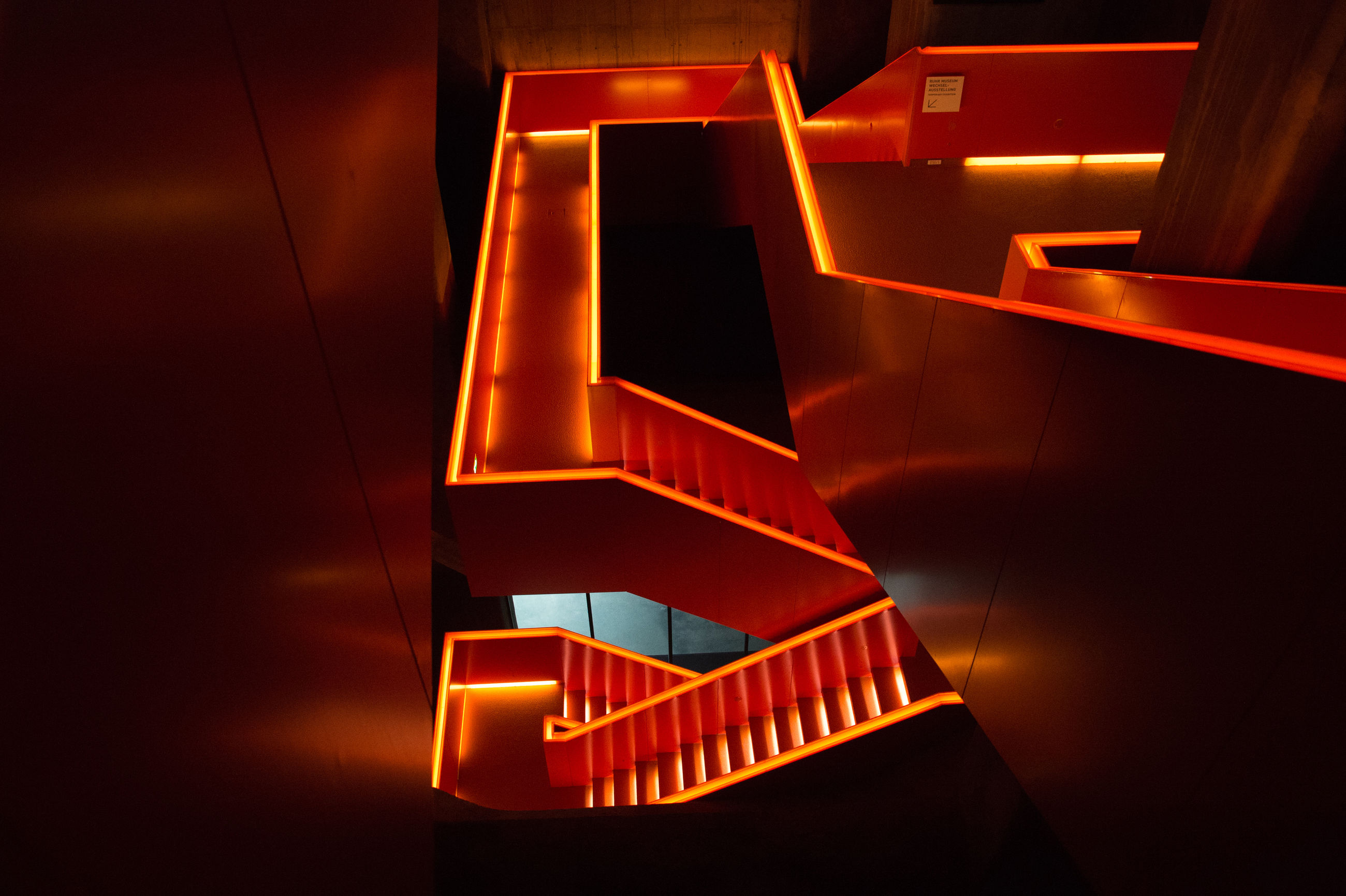 staircase, illuminated, steps and staircases, spiral, architecture, no people, built structure, close-up, night, indoors