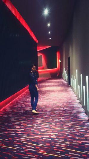 On my way to the concert hall. Resortsworldmanila Newportperformingartstheater Lady Me Myself And I Hallway Concert Hall  Young Woman EyeEm Woman Phoneography