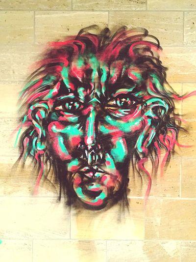 Multi colored graffiti