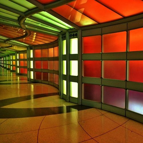 Color Wall Chicago Ohare Airports Latergram