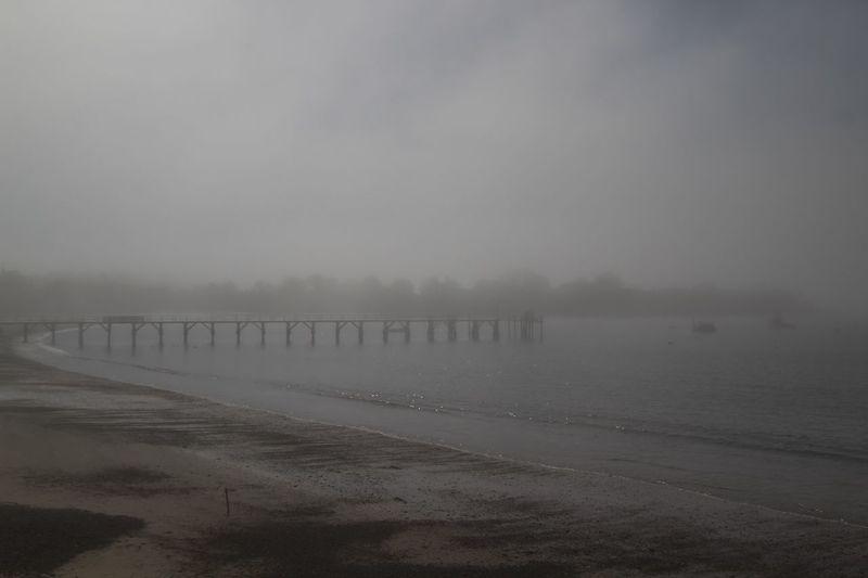 Foggy Day Water Sea Fog Scenics - Nature Sky Beach Land