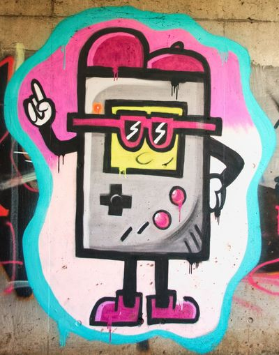 Creativity Art And Craft Graffiti Multi Colored Street Art Wall - Building Feature Representation