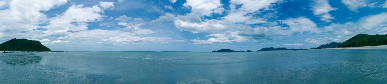 sea sky clound Cloud - Sky Sea Landscape Beach Water Scenics Sky Sand Nature Tranquility Blue Beauty In Nature Travel Travel Destinations Tourism Outdoors Panoramic Tranquil Scene Idyllic Horizon Over Water Sea And Sky Thailand🇹🇭 Pranburi Mountain Beauty In Nature