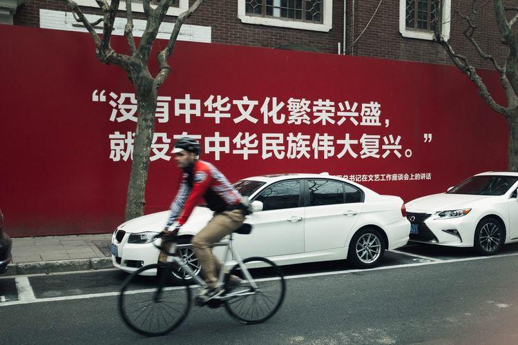 Cyclist Shanghai Street Photography