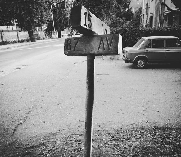Steetphotography Road Sign Maadi Cairo Egypt