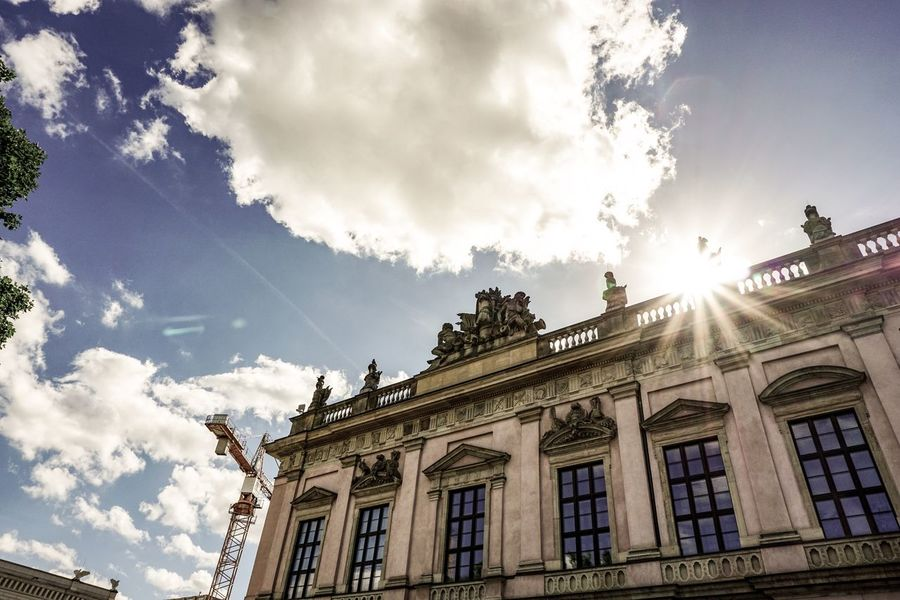 Berlin Photography Berliner Ansichten Berlin Architecture Built Structure Building Exterior Sky Cloud - Sky Low Angle View Building Day Nature Outdoors The Past Sunlight History No People Sunbeam Window Religion Belief City