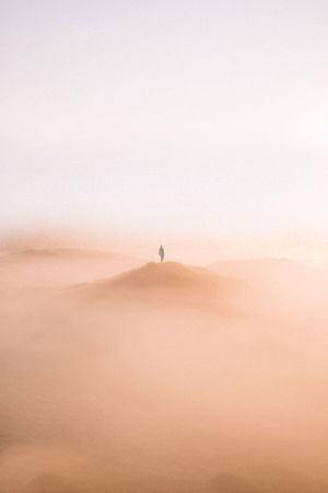 I was literally lost in the landscape! It was so magical! | Sand Dune Sand Desert Arid Climate Scenics One Man Only One Person Connected By Travel Lost In The Landscape EyeEm Selects Netherlands Above The Clouds Mist Fog EyeEmNewHere The Netherlands Minimalism Early Morning Exploration Crater Magical Beauty In Nature Outdoors Landscape Backgrounds Fresh on Market 2017 Perspectives On Nature Be. Ready.