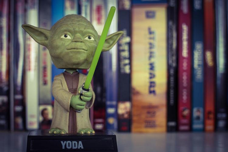 "Yoda ""Jedi Master"" Starwars Galaxy Entertainment Shelf EyeEm Best Shots EyeEmNewHere EyeEm Selects EyeEm Gallery Eye4photography  EyeEm Eyeem Market Hobby Thailand Thai Thailand_allshots Bangkok Bangkok Thailand. Library Close-up Figurine  Toy Stuffed Toy Shelves"