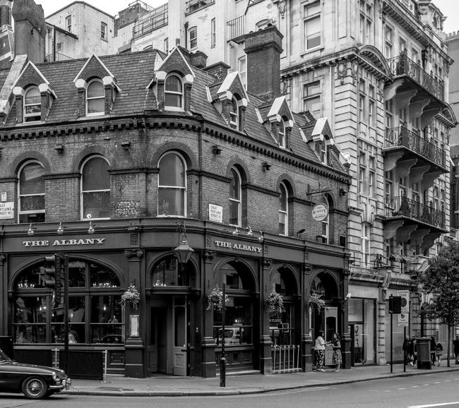 The Albany, Great Portland Street, Marylebone, London Architecture London FUJIFILM X-T2 Monochrome Photography FUJIFILMXT2 Monochrome Black And White Architecture Pubs London Pub Marylebone