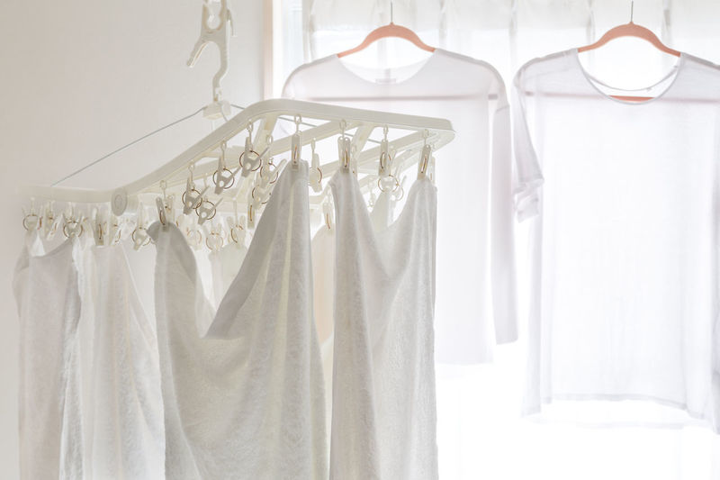 Clothing Day Drying Clothes Hanging Laundromat Laundry Laundry Day No People Towel Towels Underwears Underwear😈 White Background White Clothes White Color