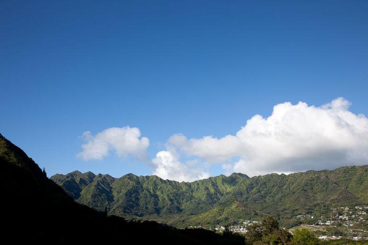 Manoa Valley Clouds Crisp Blue Sky Hiking Rolling Hills Hawaiian Islands Green Green Color Clear Day Hills Manoa Honolulu, Hawaii Portraits Sunny Alohastate Beachwear Clothing Honolulu  Shoes First Eyeem Photo