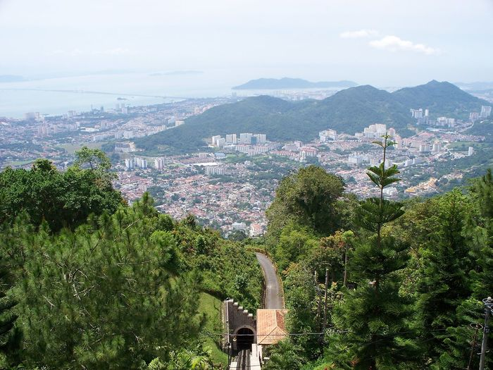 Penang Hill By Funicular Railway, Malaysia Cityscape George Town Penang Penang Hill By Funicular Railway Penang Island Road Transportation Trees Architecture Beauty In Nature Building Exterior Built Structure Cityscape Day Landscape Malaysia Mountain Nature No People Outdoors Penang Malaysia Sky Tree Tunnel The Week On EyeEm