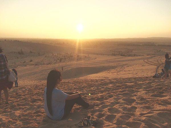 Sunset Sunlight Only Women Adult Sun One Person Landscape