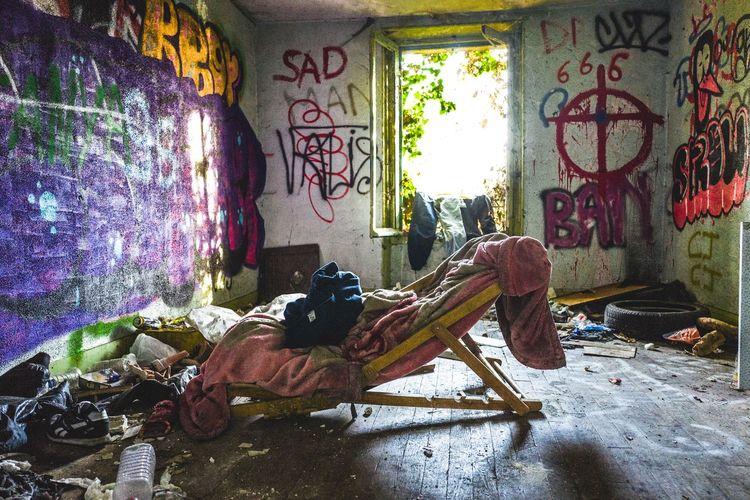 Graffiti on abandoned wall