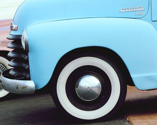 Going for a drive Mode Of Transportation Motor Vehicle Car Transportation Land Vehicle Tire Wheel No People Day Retro Styled Blue Headlight Travel Chrome Vintage Car Vehicle Part Nature