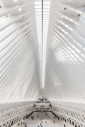 Iconic structures Nikon D7500 Full Frame Urban Geometry My Point Of View New York City Architecture_collection Architectural Column EyeEm Masterclass Exceptional Photographs Oculus Architectural Feature Steps And Staircases Futuristic Technology Metal Railing No People White Color Convenience Transportation Built Structure Ceiling Modern Pattern Architecture Indoors  Urbanphotography Cityscape Urban Lifestyle Unrecognizable Person The Architect - 2019 EyeEm Awards The Minimalist - 2019 EyeEm Awards