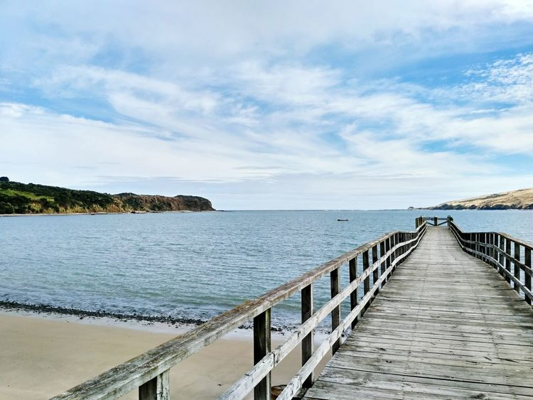Sea Beach Pier Water Outdoors Day Horizon Over Water Sand New Zealand No People Beauty In Nature