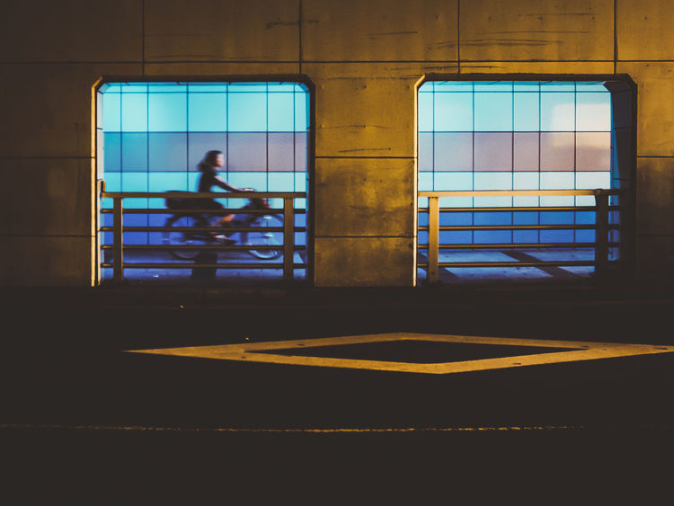 HUAWEI Photo Award: After Dark Architecture Building Building Exterior Built Structure City Day Full Length Glass - Material Lifestyles Men Nature One Person Outdoors Real People Silhouette Transparent Transportation Window