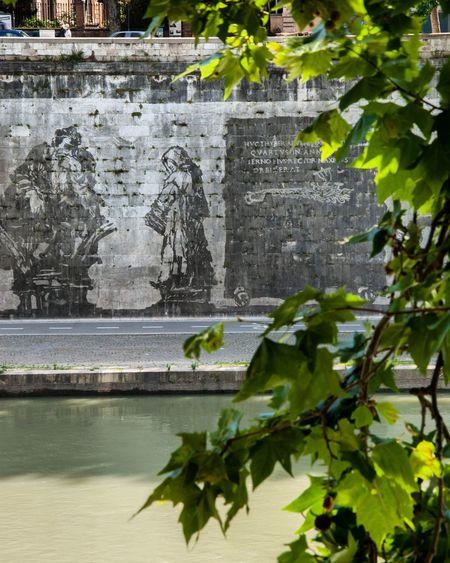 Roma Rome Streetart Art Kentridge Triumphsandlaments Tevere Tevere River